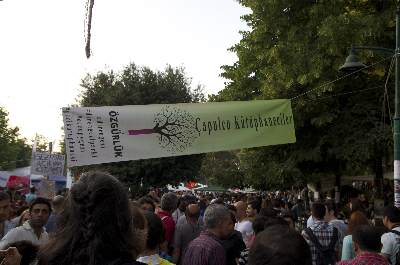 Einblick in den Gezi Park.